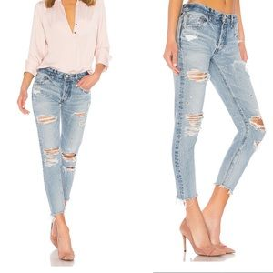 Moussy Creston Tapered Jeans in Light Blue